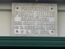 Gedenkschild Franz Bunke