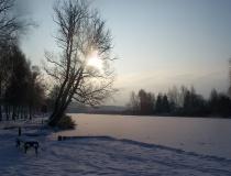 die Warnow im Winter